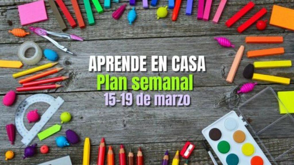 Plan de trabajo del 15 al 19 de marzo