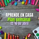 PLAN SEMANAL APRENDE EN CASA SEMANA 29