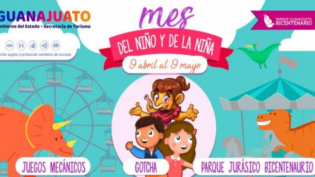 Mes del Niño y la Niña 2021 en Parque Bicentenario Guanajuato Foto: Especial
