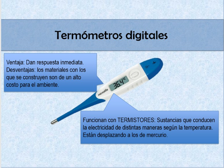 Termómetro digital. Cambios de temperatura