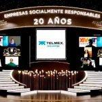 TELMEX obtiene por 20° año consecutivo el Distintivo Empresa Socialmente Responsable Foto: Especial