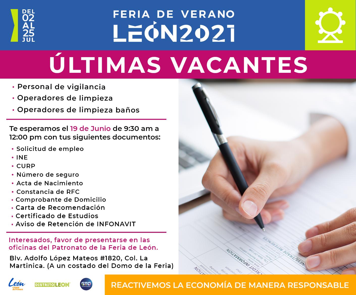 Feria de Verano León 2021: Ultimas vacantes