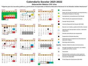 CALENDARIO ESCOLAR 2021 2022 SEP IMAGEN