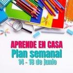 plan semanal aprende en casa semana 28