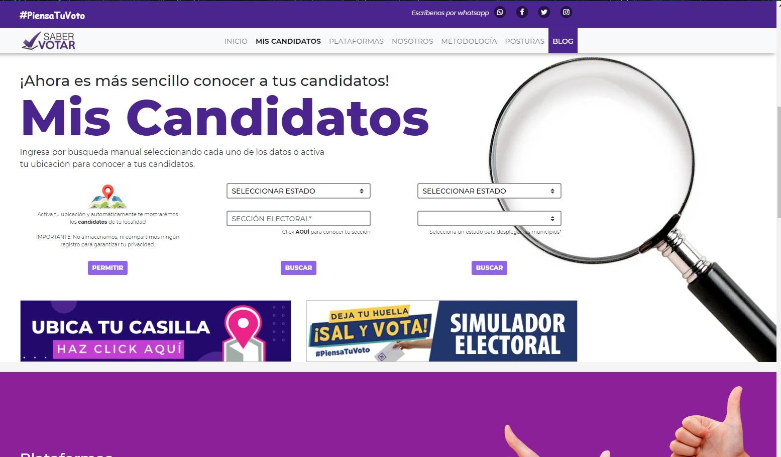 Propuestas y candidaturas en las elecciones 2021