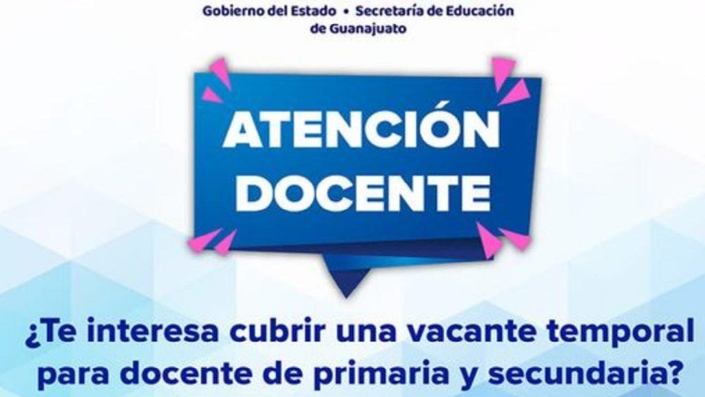 SEG: Checa la bolsa de trabajo docentes Guanajuato 2021 Foto: Especial