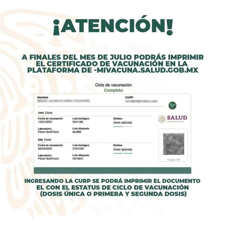certificado vacunacion covid 19 mexico