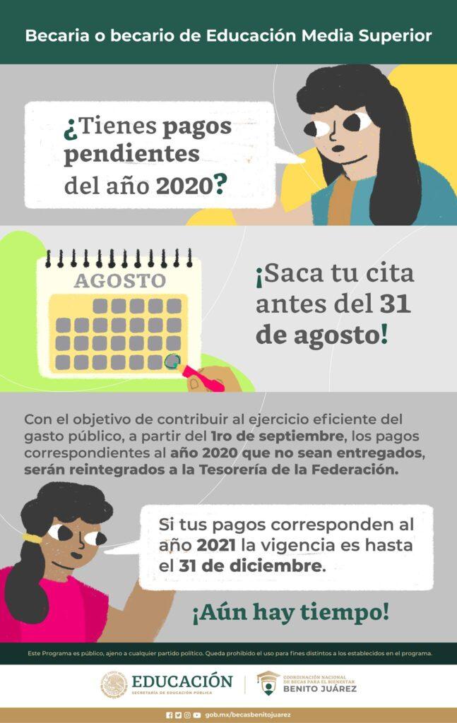 PAGOS PENDIENTES BECAS BENITO JUAREZ 2020