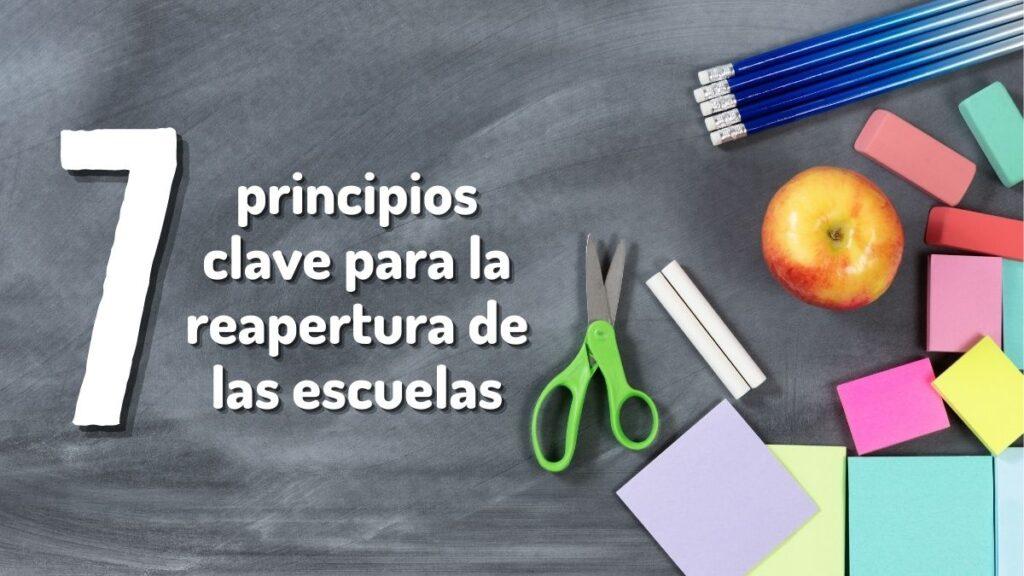 principios clave para la reapertura de las escuelas REGRESO A CLASES SEP
