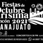 Fiestas de Octubre Purísima del Rincón 2021. Cartel Foto: Especial
