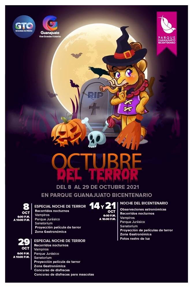 October of Terror 2021 Guanajuato Bicentennial Park.  Date and cost of the ticket Photo: Special