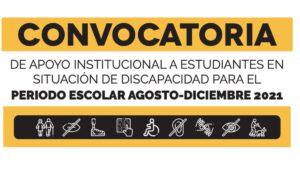 Convocatoria Apoyo Institucional a Estudiantes con Discapacidad Universidad de Guanajuato 2021 Foto: Especial